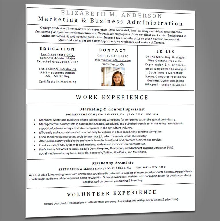 Entry Level Resume Joe Pro Resumes